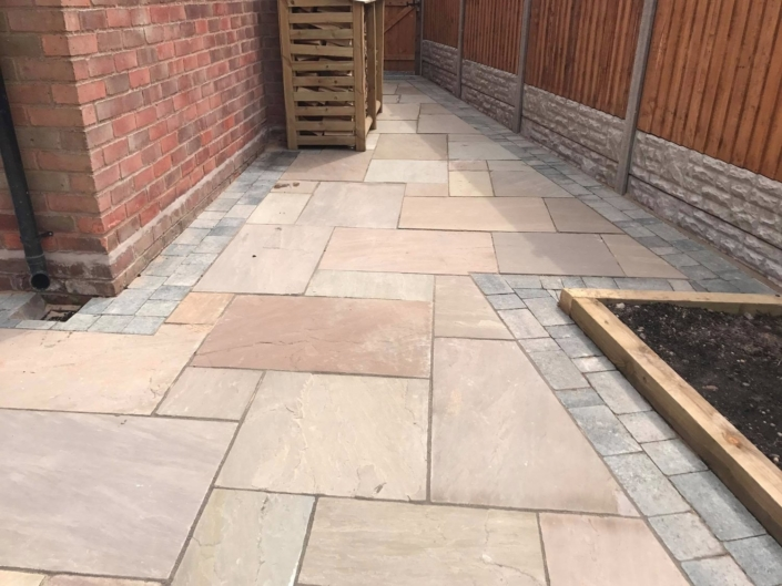 indian sandstone patio installed Stratford upon Avon